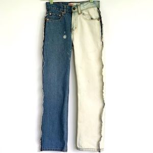 Levi's 550 Relaxed Custom Bleach and Sewing